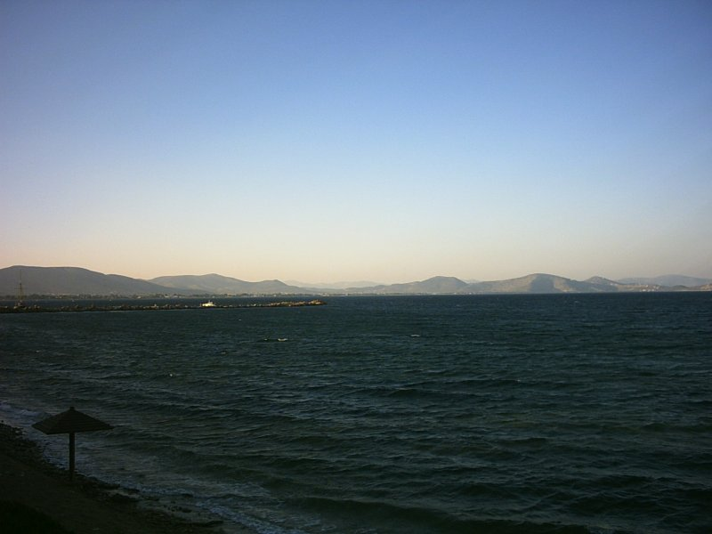 We can not see it from Nea Makri but it is in the middle of the picture...